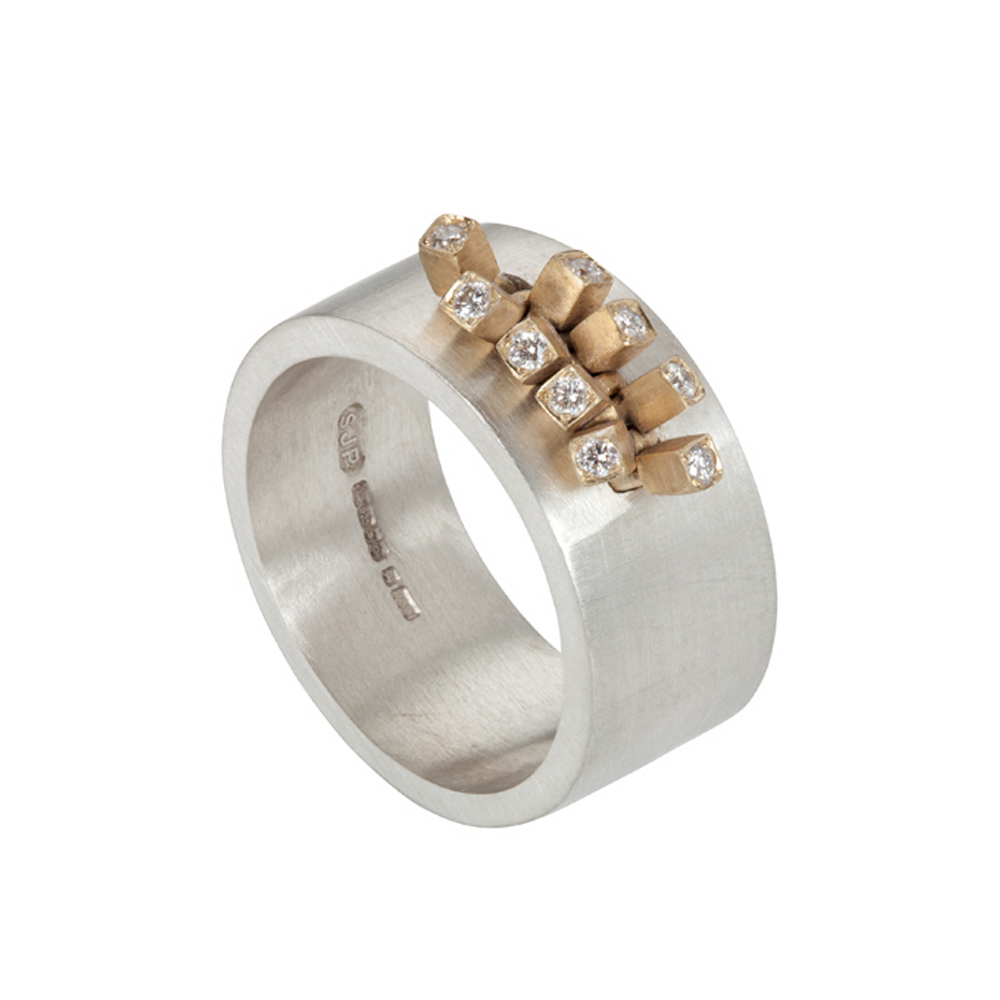 Diamond Furrow Ring