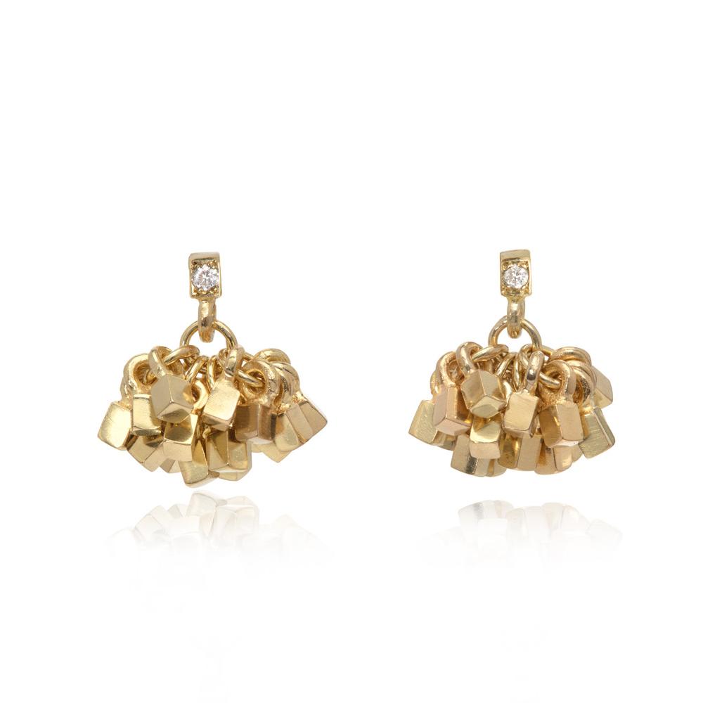 Small Diamond Tassel Earrings