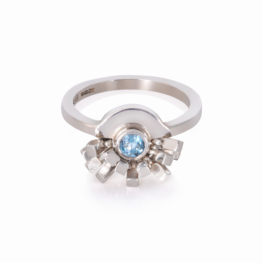 Aquamarine Corona Ring